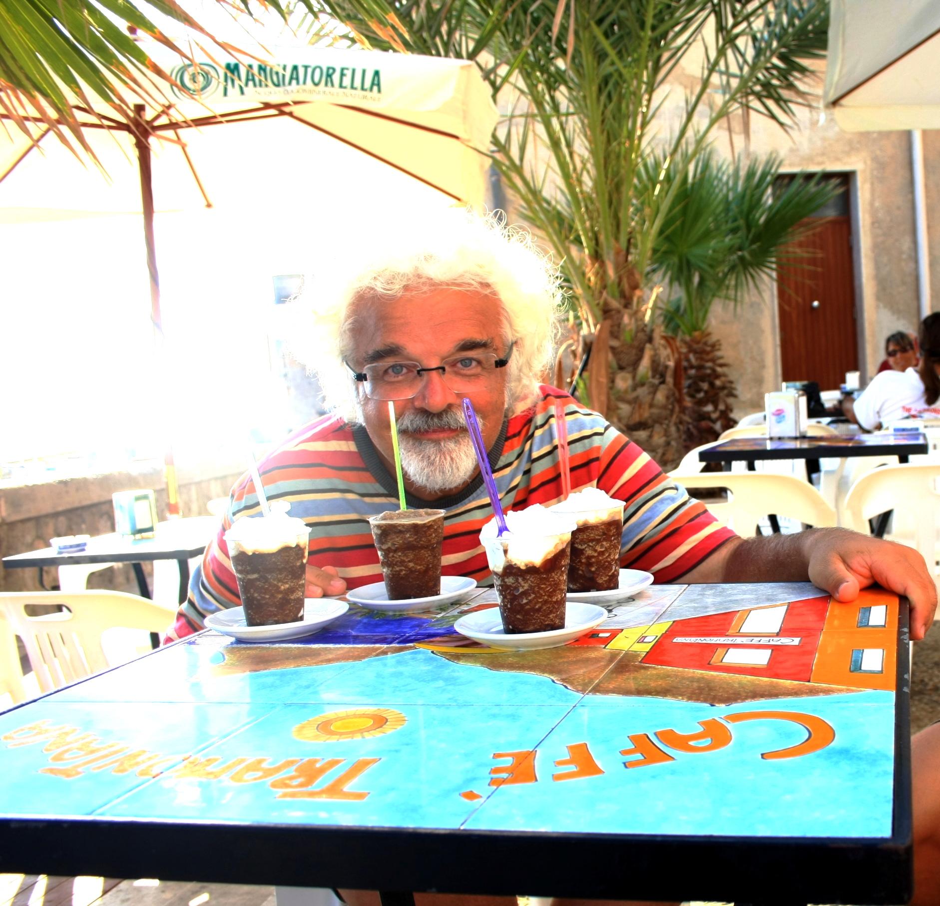 "Patrizio tastes ""Granita"" at Marettimo"
