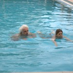 Swimming in the SPA pool