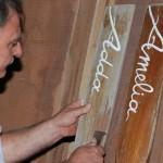 Antonino Tramontano, craftsman of boats at work