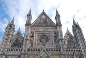 Orvieto, detail of Dom facade, by Anna Maria Speltra