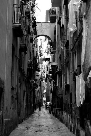 typical street in Naples