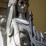 detail of Antonini House: sphinx