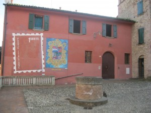 square and painted wall