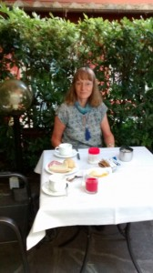 Gaby at Rivoli's garden
