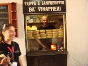 Lampredotto street food stand