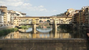 Ponte Vecchio view, by bike