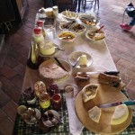 breakfast at the Agriturismo del Cimone (day 2)