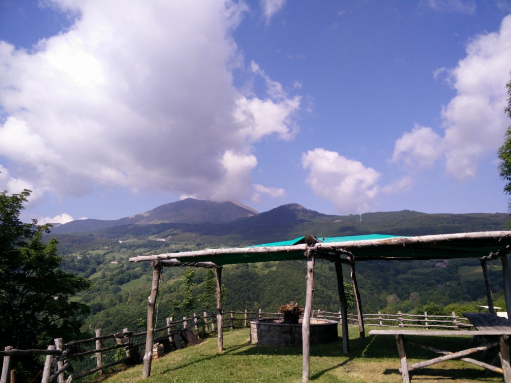 View from the agriturismo