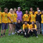 Volunteers of international workcamp of Legambiente Prato in Vaiano