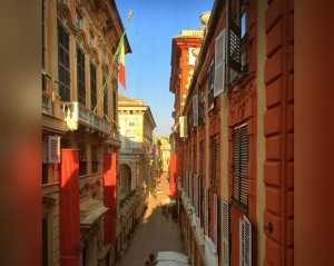 Genoa, via Garibaldi. Pic by Andrea Puggioni (Flickr User @cebete)