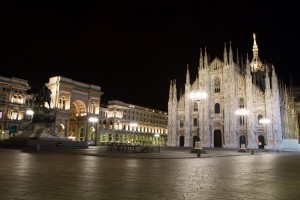 Milan: Duomo by night, by Flickr User Fortherock