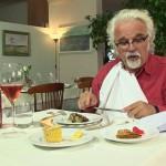 Patrizio eating at Restaurant Selvatico, Rivanazzano Terme