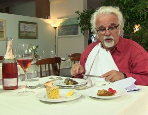 Patrizio eating at Restaurant Selvatico, Rivanazzano Terme