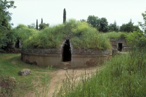 Banditaccia Necropolis, Cerveteri. Pic by Flickr User MCAD Library