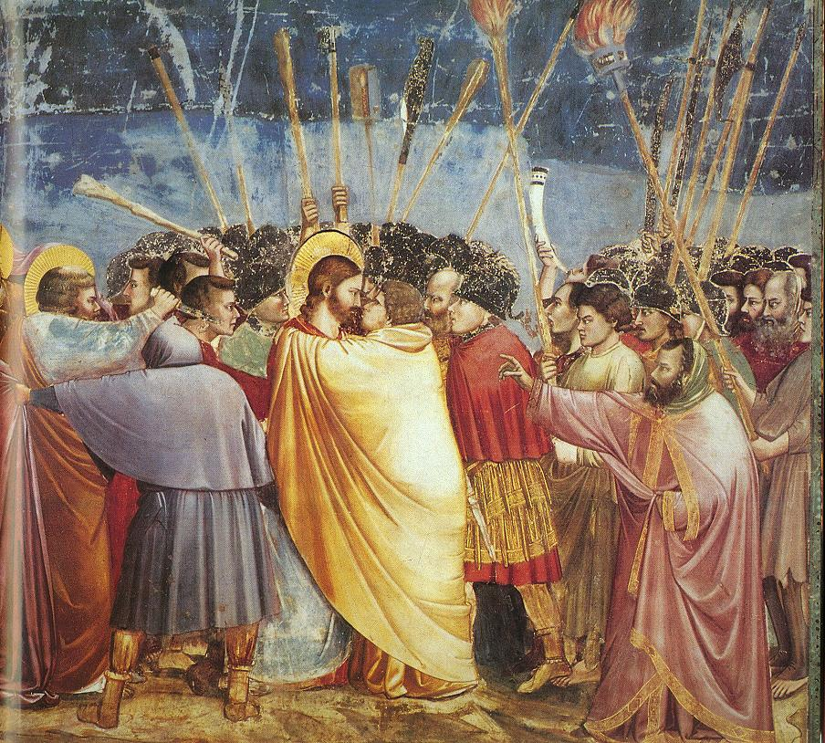 Life of Christ: Kiss of Judas, Scrovegni Chapel, pic by Flickr User Carla 216