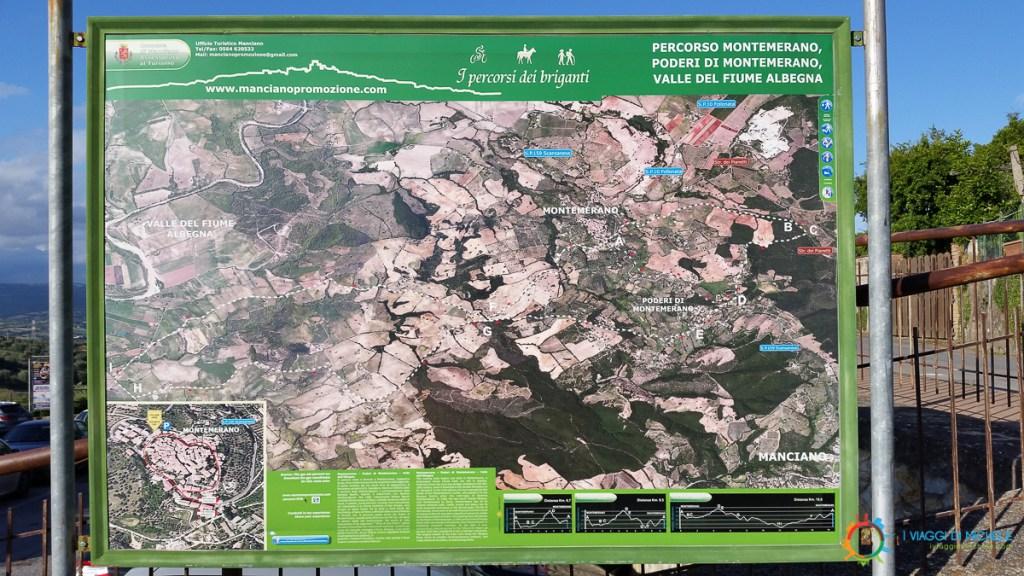 Trekking paths' map – Montemerano