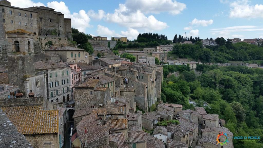 Sorano's view from the Masso Leopoldino