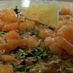 Risotto with melon at Gazzuolo