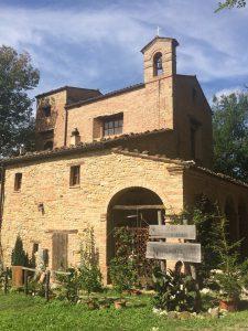 Half church half house on the cammino to Amandola