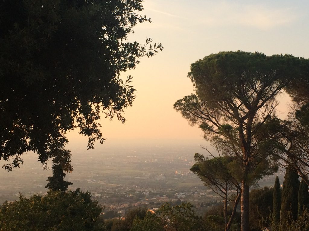 Sunset over Lazio, from Villa Tuscolana (Frascati)