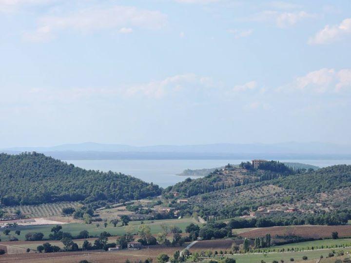 Agello, view from the park - Lake Trasimeno
