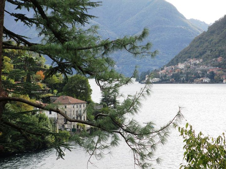 Nesso - view of the Ponte Roma from the 340 steps path