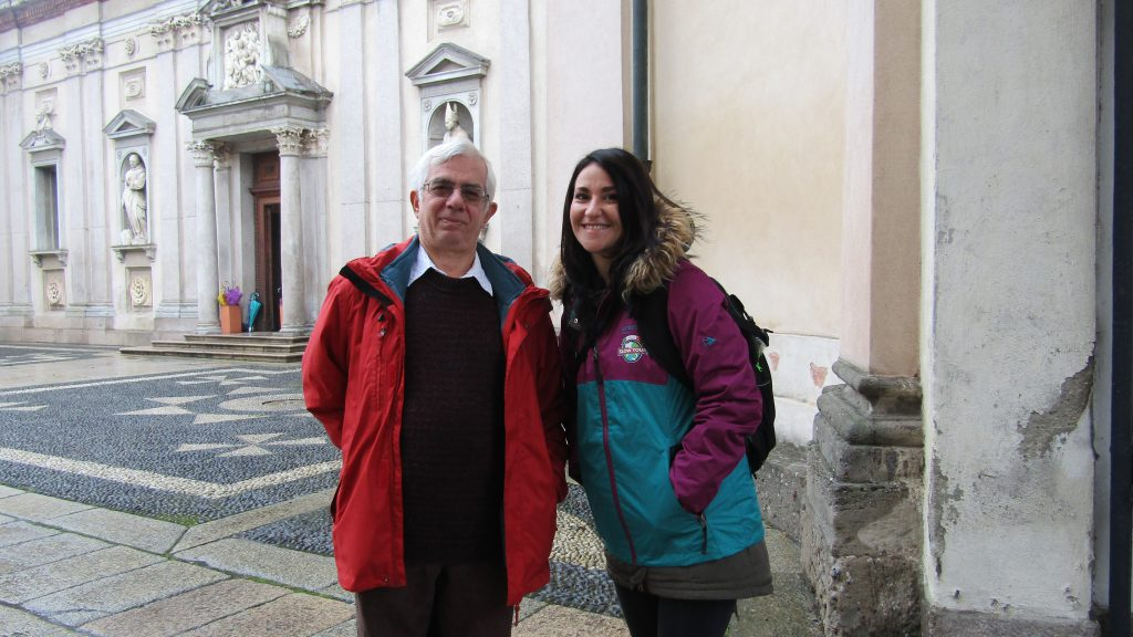 Roxana and mr Roberto Gariboldi at Certosa di Garegnano