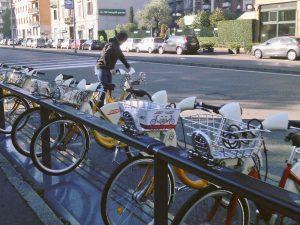 Milan: BikeMi station