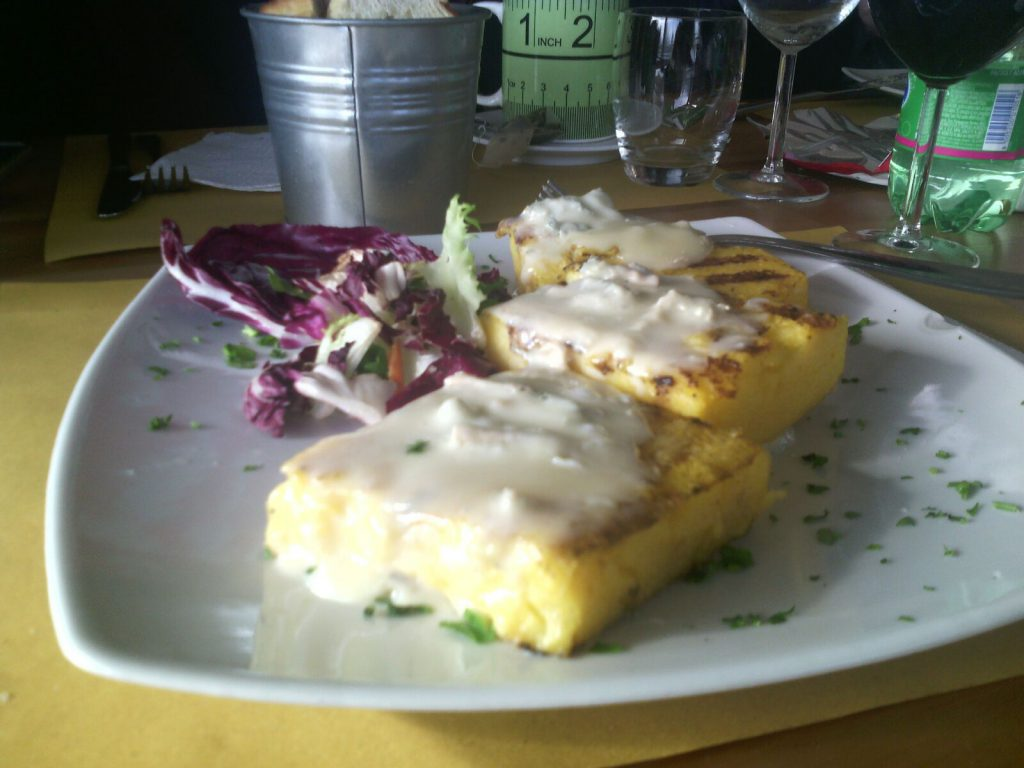 Lunch: Polenta & cheese