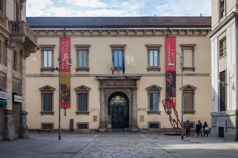 Pinacoteca Ambrosiana, Milan - entrance
