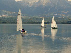 Go sailing on the lake Santa Croce