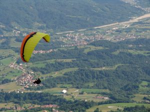 Paragliding on Santa Croce valley