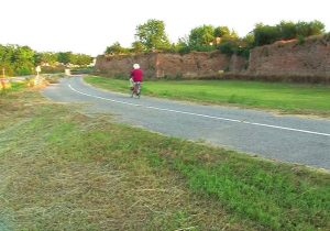 Bozzolo Walls, by bike