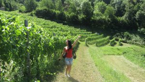 Roxana in the vineyards