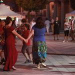 Dancing in the square photo by Pauline Fitzgerald