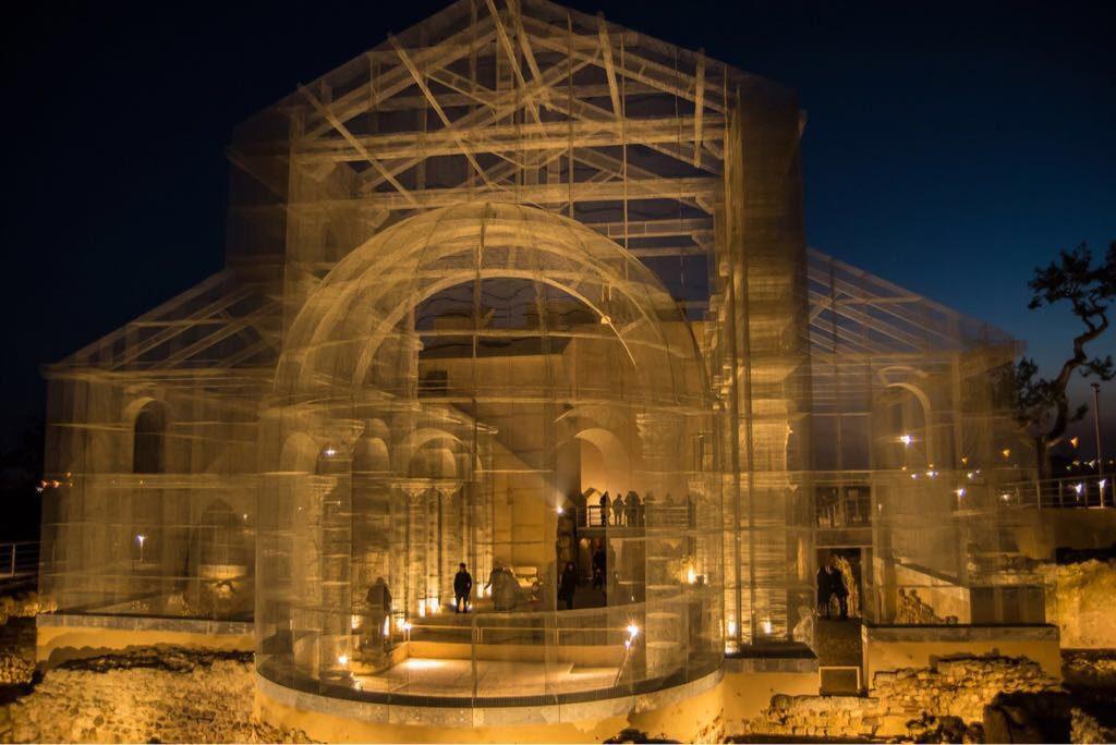 Edoardo Tresoldi's recreation of the Roman church, Basilica Santa Maria in Siponto, Manfredonia