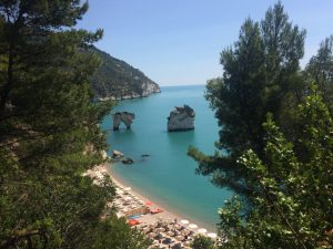 Gargano's iconic faraglioni from Hotel Baia dei Faraglioni (there is a lift that goes directly from the hotel to the beach below)