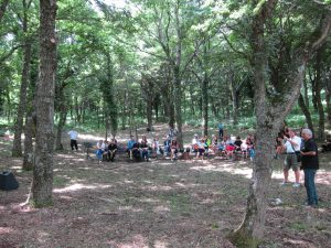 People gather in Monte Cornacchia for a music concert