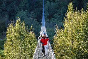 Pistoia, suspension bridge