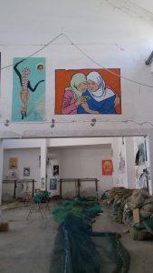 Ancona, street art at the Port