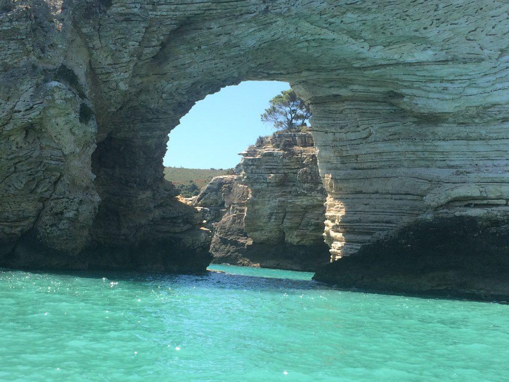 The base of one of the faraglioni along the Mattinata coast