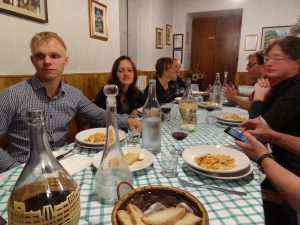 "Dinner at ""Da Valtenino"" restaurant, Malocchio"