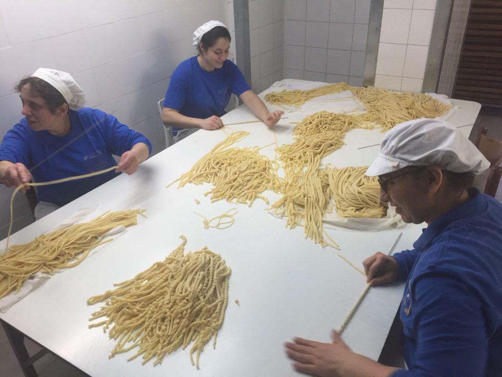 Preparazione della pasta di Gragnano