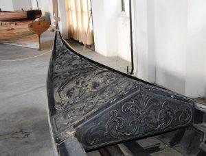 Front of the ancient Venetian gondola