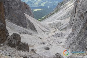 """Going down from the """"Forcella del Sasso Lungo"""""""