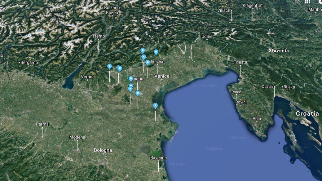 Ville Venete tour MAP