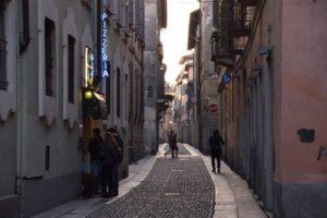 Pavia, pretty cobblestone street