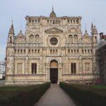 Certosa di Pavia - the white marble facade