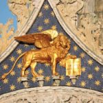 Venice - the lion of St Mark above the Duomo