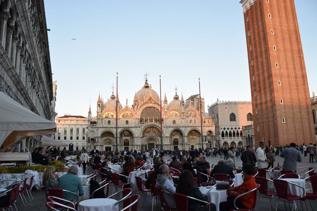 Venice - the Duomo and Campanile in the Piazza San Marco